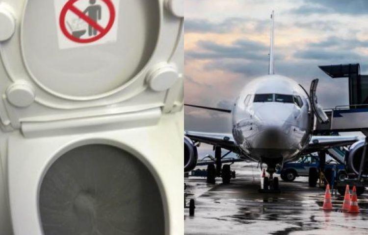 Đi cầu trên máy bay: Không có chuyện  bị hút chặt vào bồn cầu