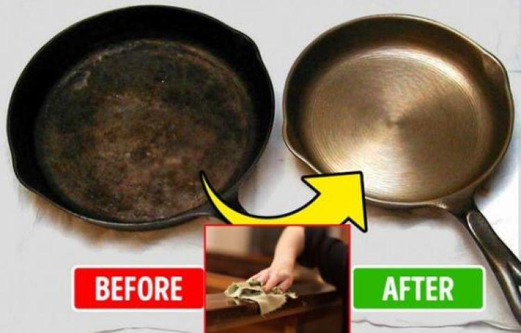 Nước xả vải không chỉ làm mềm quần áo mà còn tẩy sạch vết cháy này trong bếp, đồ gỗ cũng bóng loáng như mới mua