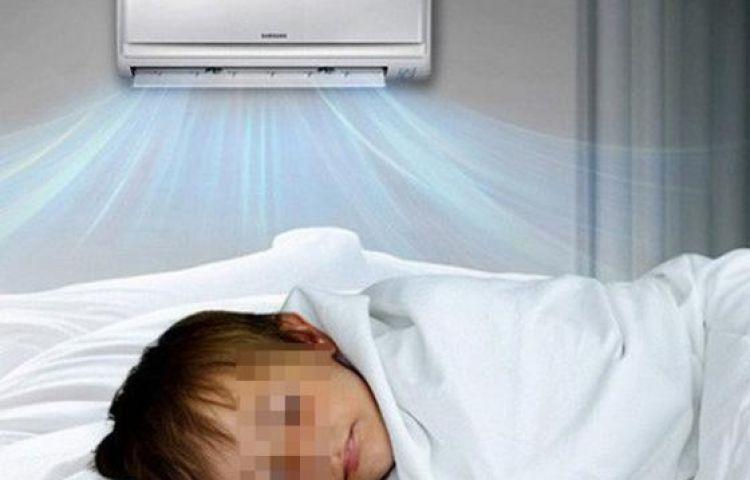 Bé 6 tuổi bị liệt mặt vì ngủ điều hoà sai cách