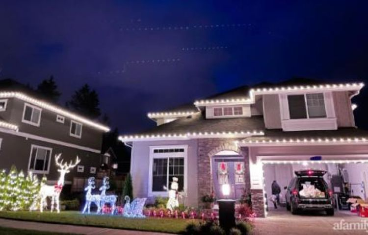 Căn nhà trang hoàng đón Noel đẹp như trong tạp chí của người phụ nữ Việt ở Mỹ